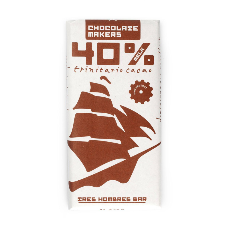 Chocolate Makers - Tres Hombres met Gerookt Zeezout 40%