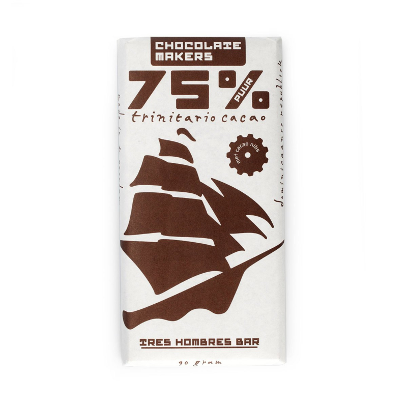 Chocolate Makers - Tres Hombres with cacao nibs 75%