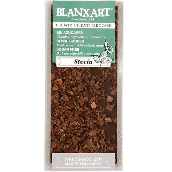 Blanxart - Dark Chocolate with Stevia and Nibs (Suikervrij)