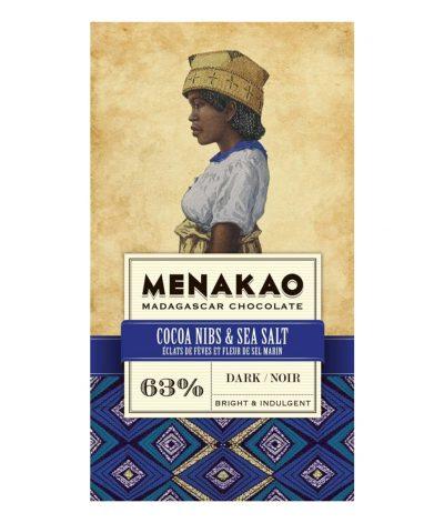 Menakao - Cocoa Nibs & Sea Salt 63%