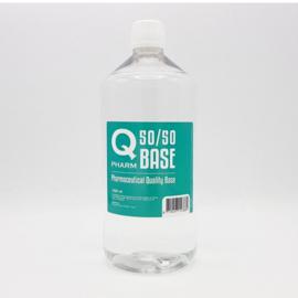 Base Qpharm 50/50 0mg 1 liter