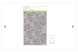 Craftemotions glitter papier zilver
