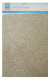 Soft glitterpapier: platinum