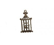 Scrapberry's: Metal charm Flat birdcage