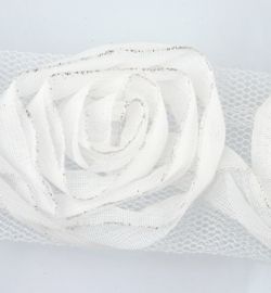 Bloemenlint off white
