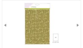 Craftemotions glitter papier goud