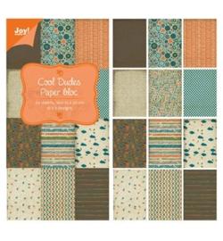 Joy Crafts papierblok: Dudes