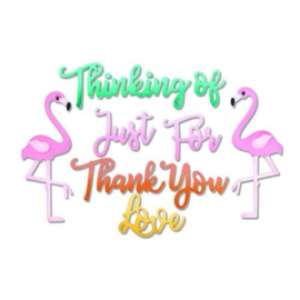 Sizzix: Flamingo / Thank you