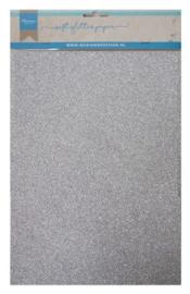 Softglitterpapier: zilver