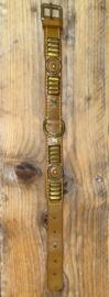 Bruine halsband met goud