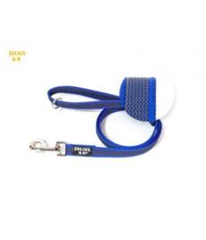 Anti slip Honden riem Blauw 20mm x 1,2mtr