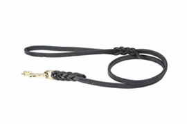 Leather leash with steel 10 mm