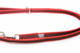 Dubbele anti slip hondenriem rood 20mm x 2.2m