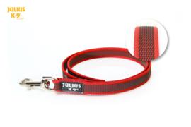 Anti slip hondenriem rood 20mm x 1.2m