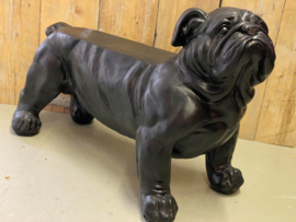 Tuinbank bulldog zwart 76,3 x 35,3 x 48,5 cm
