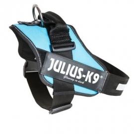 JULIUS k9 power-harnas / tuig voor labels Aqua