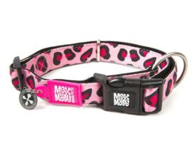 Max & Molly | Hondenhalsband - Leopard Pink - M