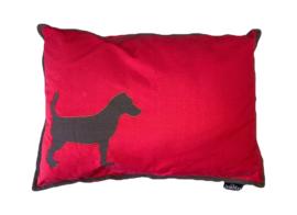 Lex & Max | Rode hondenkussen 100x70cm