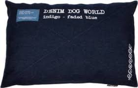 Lex & Max LM Kussen Denimworld Indigo Blue 90x60x21cm