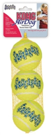 Kong | Squeakair Tennisbal geel met piep 6,5 cm, 3 st.