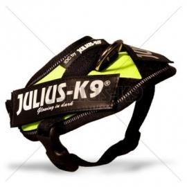JULIUS K9 | power-harnas / tuig voor labels Neon Groen