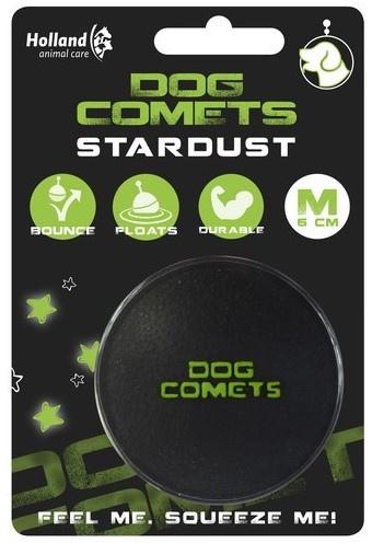 Dog Comets Stardust | Zwart met groen stuiterbal