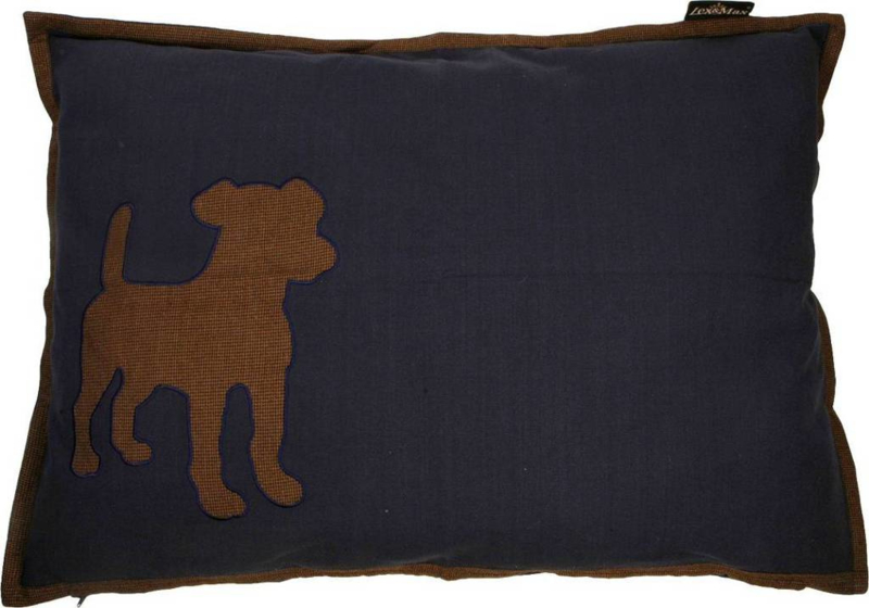 Lex & Max LM Kussen Dog Antraciet Grijs 100x70cm