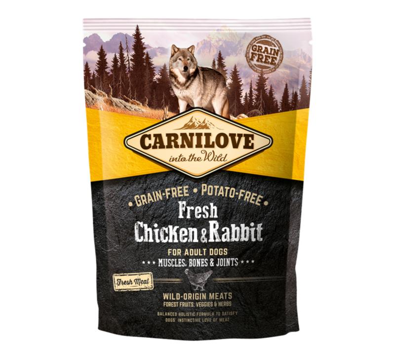 CL Dog Fresh Chicken & Rabbit Muscles,Bones……1,5kg