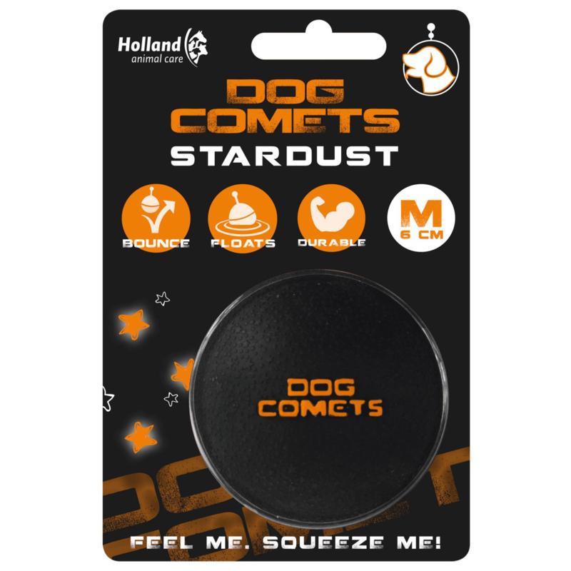 Dog Comets Stardust | Zwart met oranje stuiterbal
