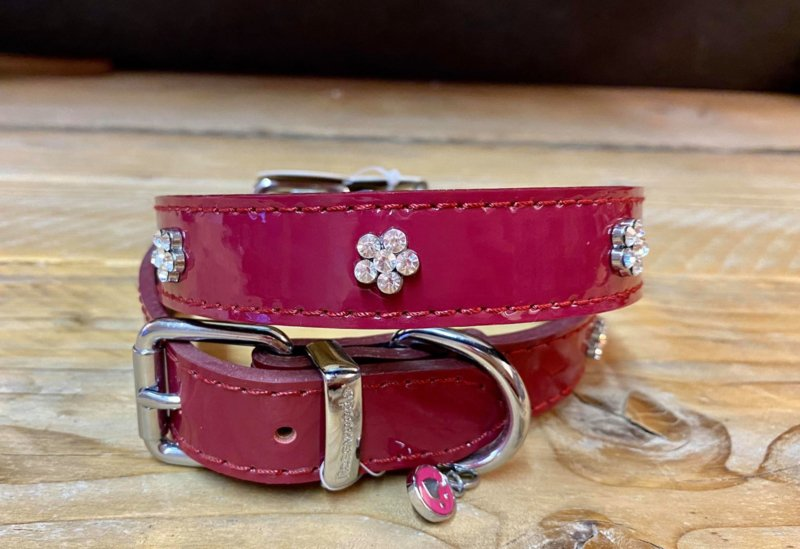 Rosewood | Wine Colored Halsband 48 cm