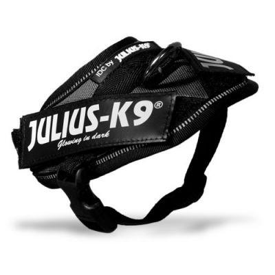 JULIUS k9 power-harnas / tuig voor labels zwart