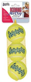 Kong   Squeakair Tennisbal geel met piep 6,5 cm, 3 st.