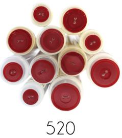 Gekleurde knoop Rood 520