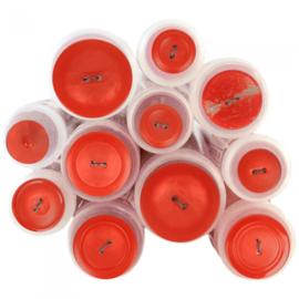 Gekleurde knoop Oranje/ Rood 519