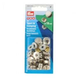 Prym Navulling naaivrijdrukknopen 15 mm zilver