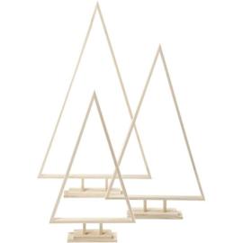 Houten Kerstboom driehoek