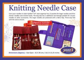 Yazzi Knitting Needle Case Navy