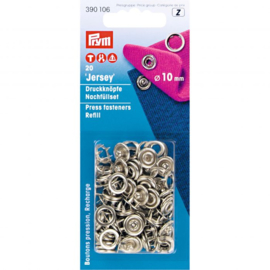 Prym Navulling naaivrijdrukknopen zilver 10 mm