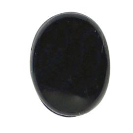 Veiligheidsogen ovaal zwart 8mm
