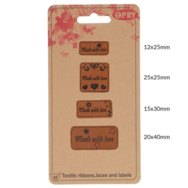 Opry Leren Labels Made With Love