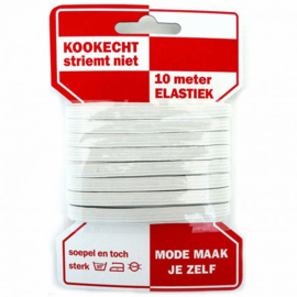 Rode kaart Elastiek 6 mm wit