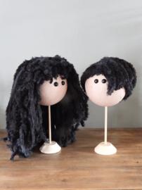 XXL Funny Doll Pruikenset Zwart