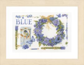Lanarte telpakket kit Lavendel krans met pimpelmees