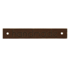 Leren Labels Handmade Donker Bruin
