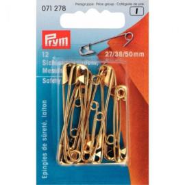 Prym Veiligheidspelden assortiment 27-38-50 mm goudkleurig