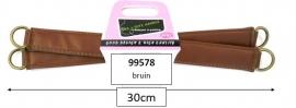 Tassenhengsel glad bruin