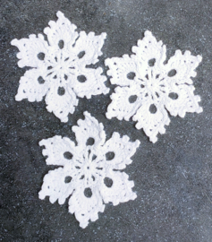 Sneeuwkristal haakpatroon