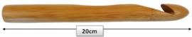 Haaknaald hout 15 mm