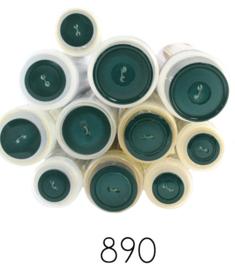 Gekleurde knoop Groen 890