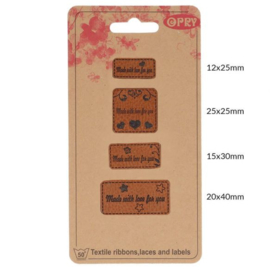 Opry Leren Labels Made With Love For You
